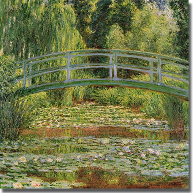 Japanese Footbridge-Claude Monet Painting