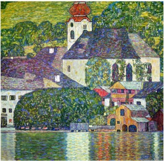 Kirche In Unterach Am Attersee, Church In Unterach On Attersee - Gustav Klimt Painting