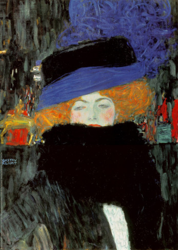 Lady With Hat And Feather Boa - Gustav Klimt Painting