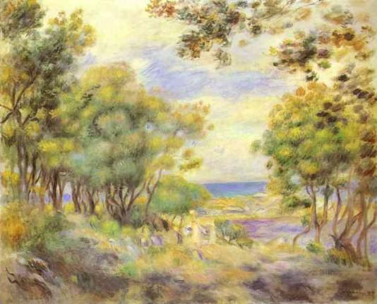 Landscape at Beaulieu - 1899 - Pierre Auguste Renoir Painting