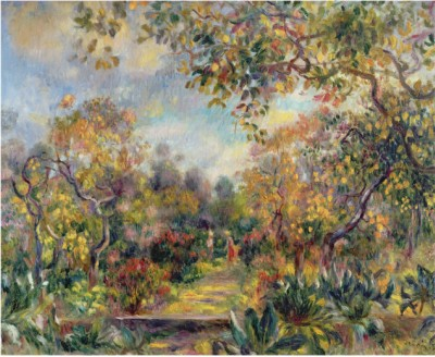 Landscape at Beaulieu c1893 - Pierre Auguste Renoir Painting