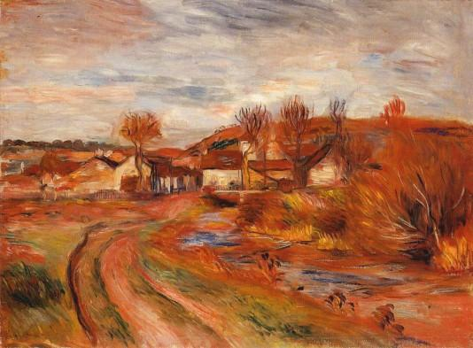 Landscape in Normandy - 1895 - Pierre Auguste Renoir Painting