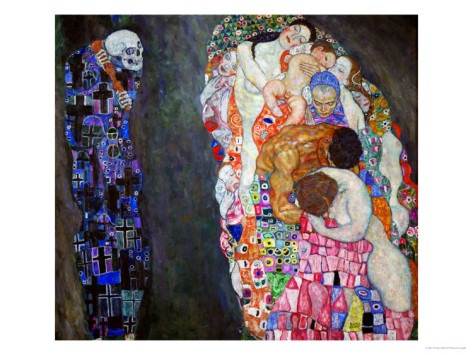 Life And Death - Gustav Klimt Painting