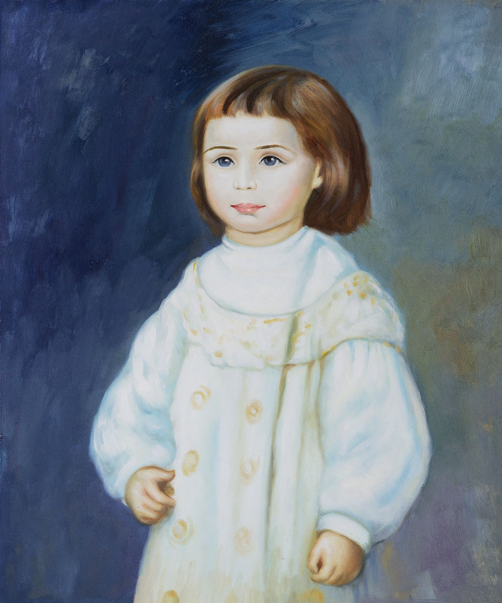 Lucie Berard (Child in White), 1883 - Pierre Auguste Renoir Painting