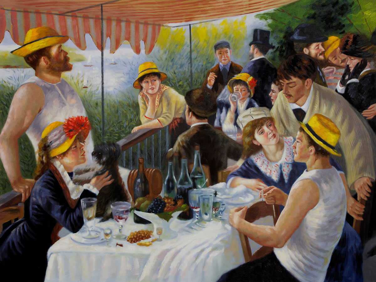 Luncheon of the Boating Party - Pierre Auguste Renoir Painting