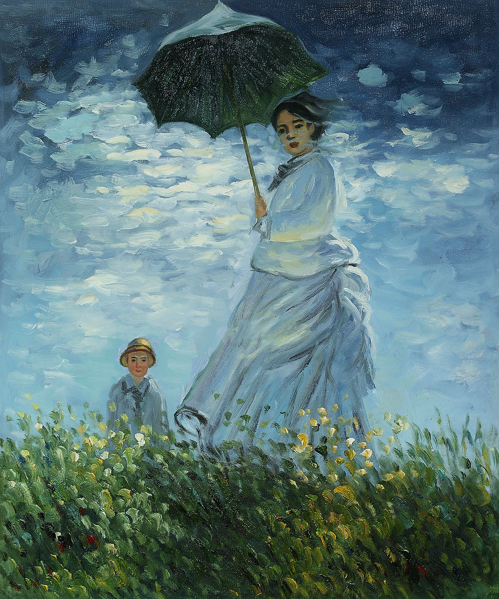 Madame Monet And Her Son-Claude Monet Painting