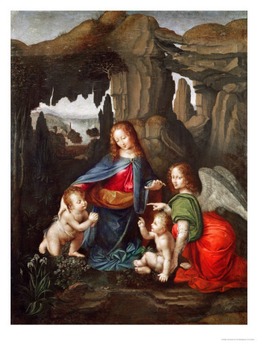 Madonna Of The Rocks - Leonardo Da Vinci Painting