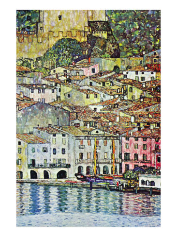 Malcena At The Gardasee - Gustav Klimt Painting