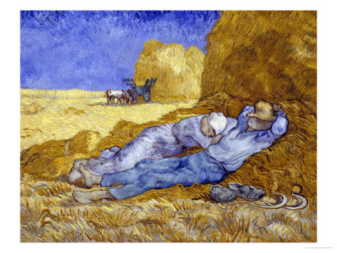 Midday Rest after Millet - Vincent Van Gogh Paintings
