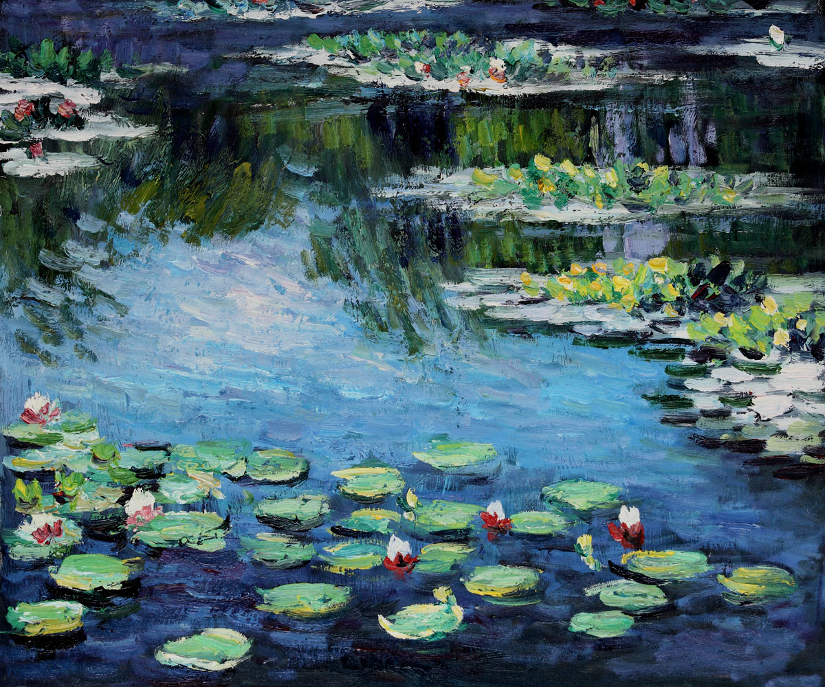 Monet Water Lilies-Claude Monet Painting