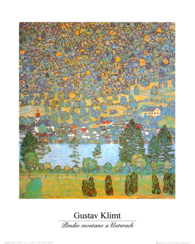 Mountain Slope At Unterach - Gustav Klimt Painting