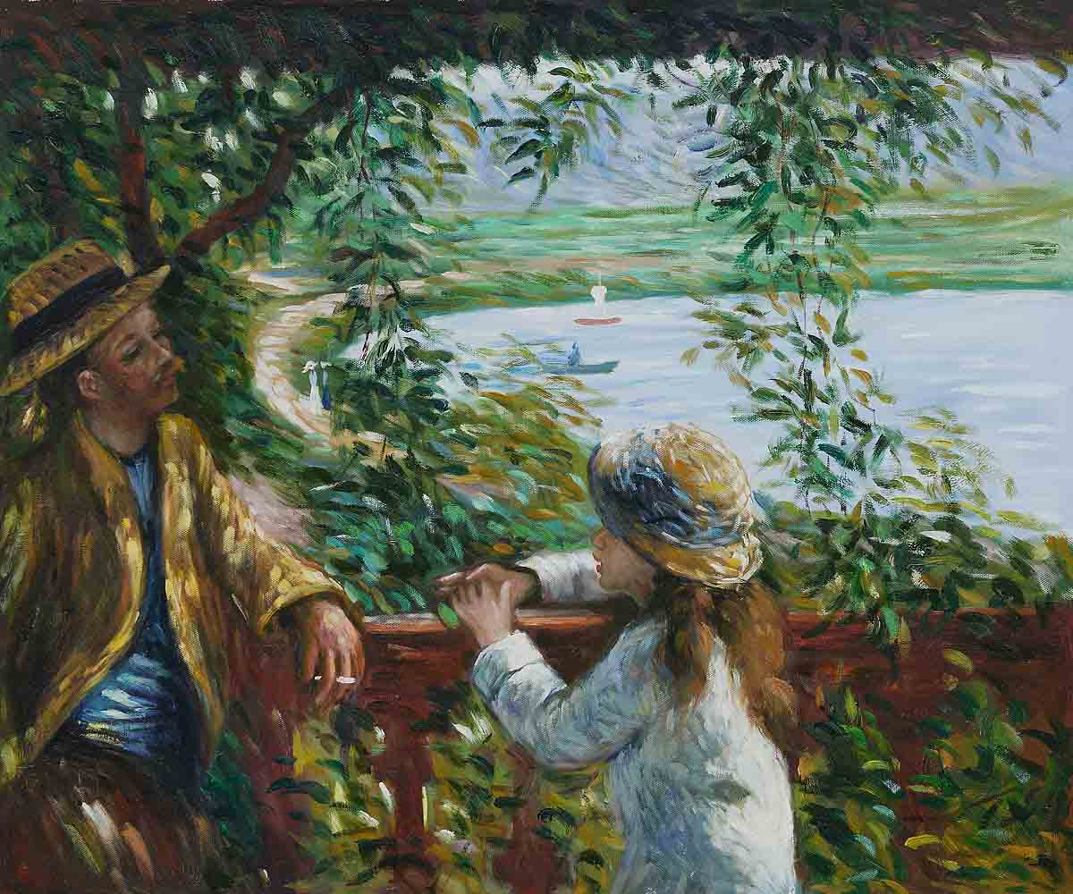 Near the Lake - Pierre Auguste Renoir Painting