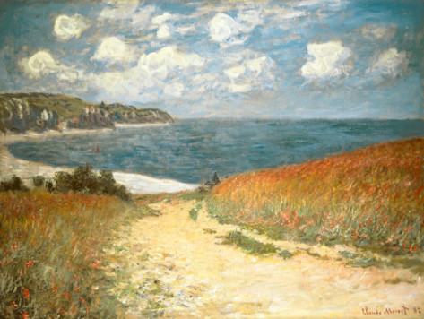 Path Through The Corn At Pourville, C.1882-Claude Monet Painting