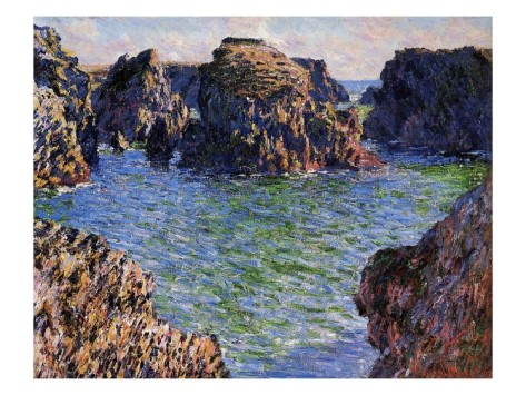 Port-Goulphar, Belle-Ile, Brittany-Claude Monet Painting