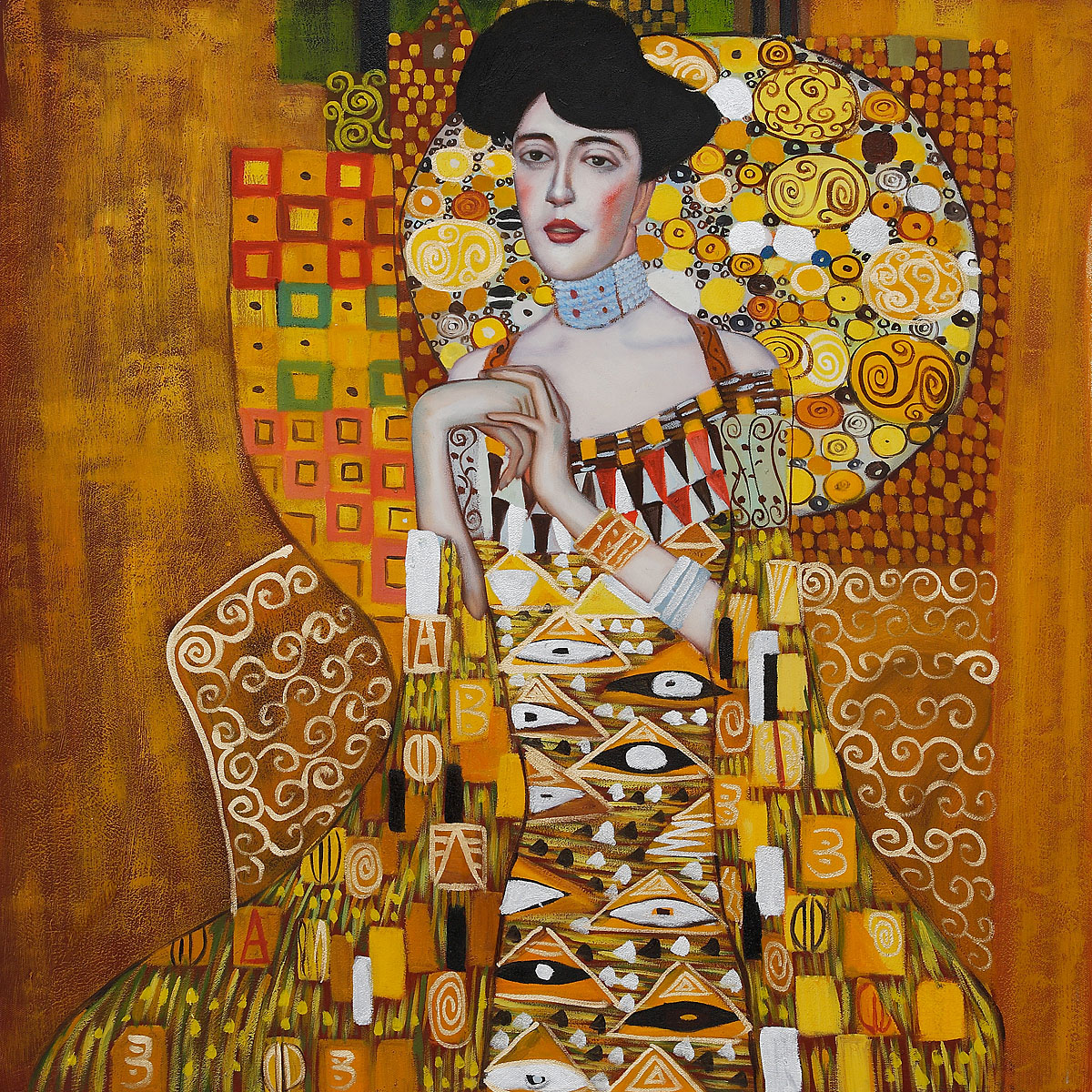 Portrait of adele bloch bauer i gustav klimt 39 s paintings for Gustav klimt original paintings for sale