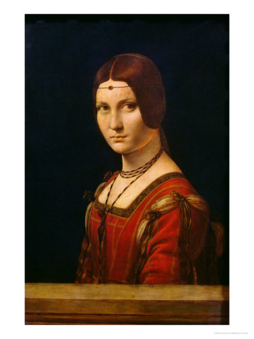 Portrait Of A Lady From The Court Of Milan - Leonardo Da Vinci Painting