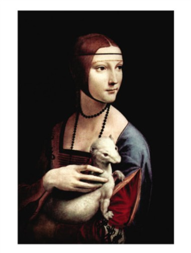 Portrait Of A Lady With An Ermine - Leonardo Da Vinci Painting