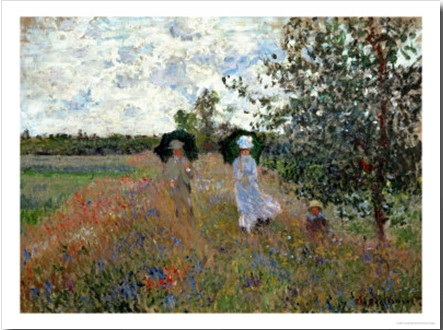 Promenade Near Argenteuil, 1873-Claude Monet Painting