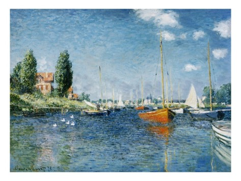 Red Boats, Argenteuil-Claude Monet Painting
