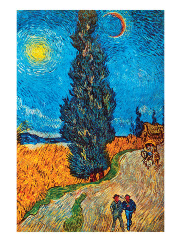 Road with Cypresses - Vincent Van Gogh Paintings