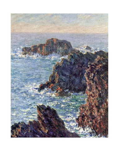 Rock Points At Belle Ile, C.1886-Claude Monet Painting
