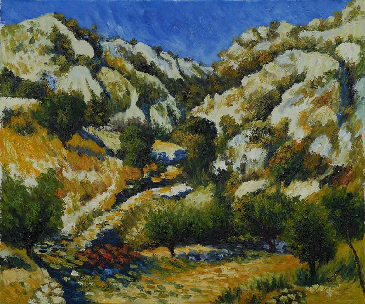Rocky Crags at L Estaque - Pierre Auguste Renoir Painting