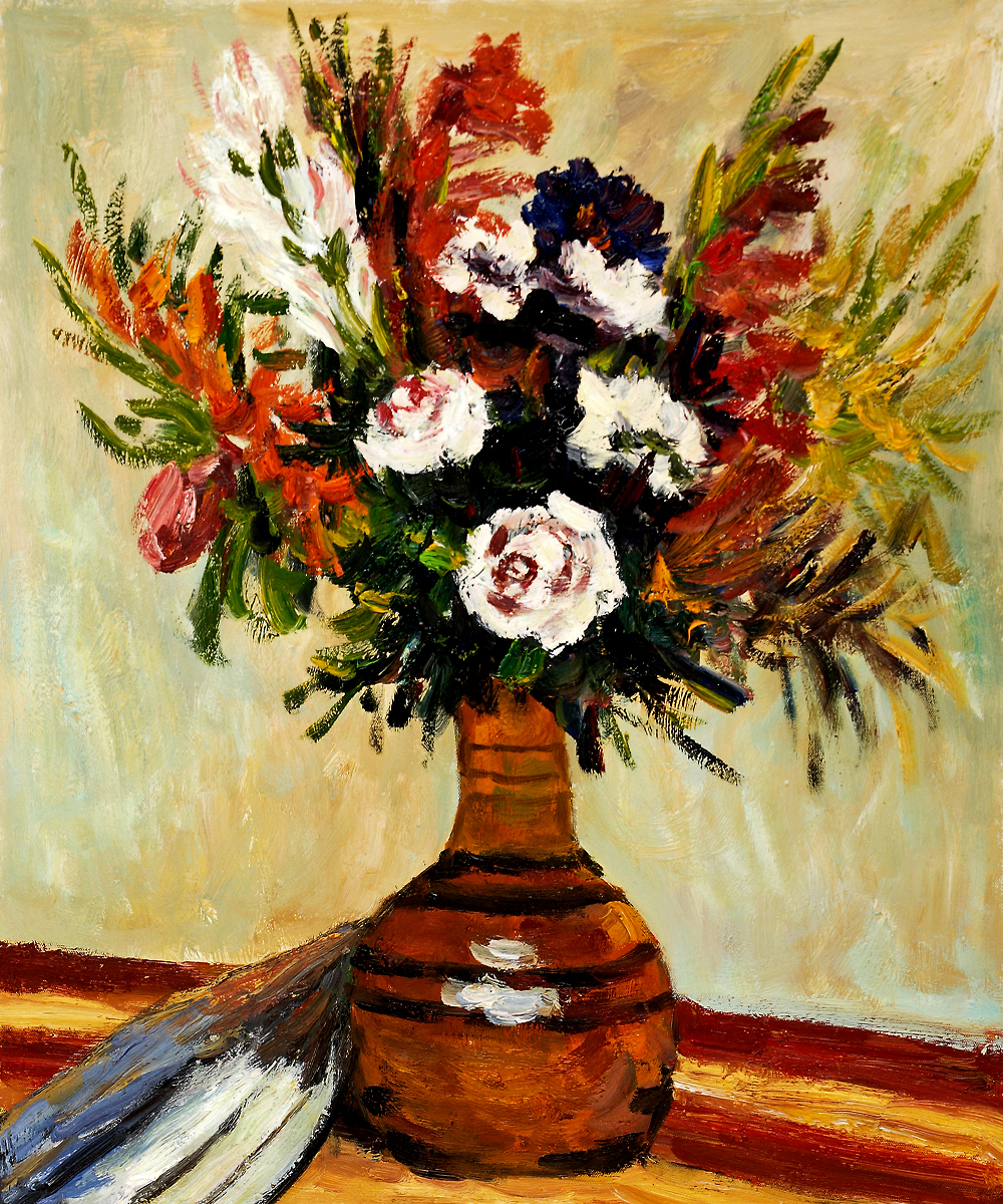 Rose in a Vase - Pierre Auguste Renoir Painting
