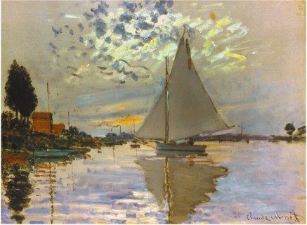 Sailboat-Claude Monet Painting