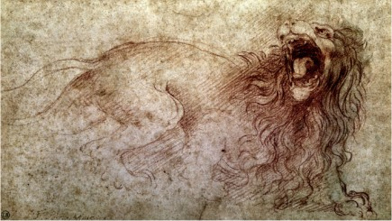 Sketch Of A Roaring Lion - Leonardo Da Vinci Painting