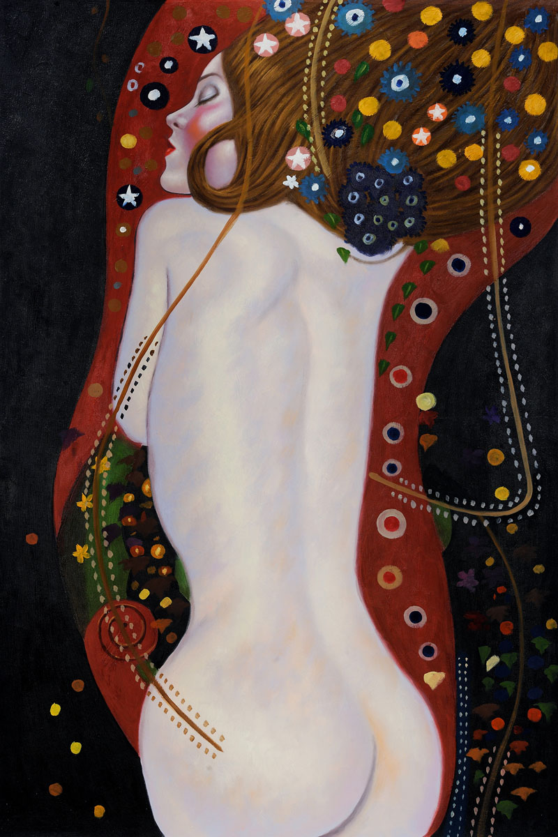 Sea Serpents Iv Full View - Gustav Klimt Painting