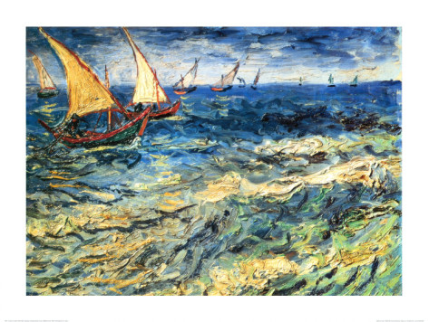 Seascape at Saintes - Maries - Vincent Van Gogh Paintings