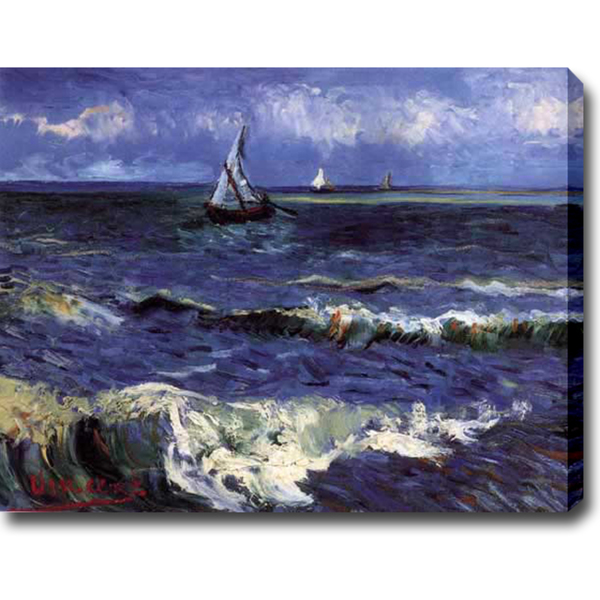 Seascape near Saintes-Maries-Vincent Van Gogh oil on canvas