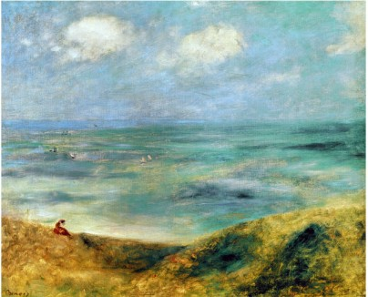 Seashore at Guernsey 1883 - Pierre Auguste Renoir Painting