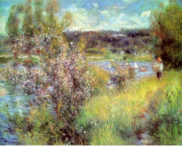 Seine At Chatou - Pierre Auguste Renoir Painting