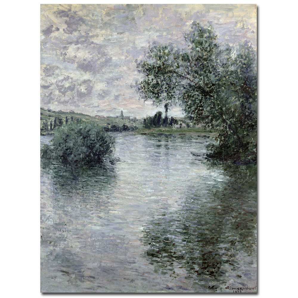 Seine At Vetheuil 1879-Claude Monet Painting