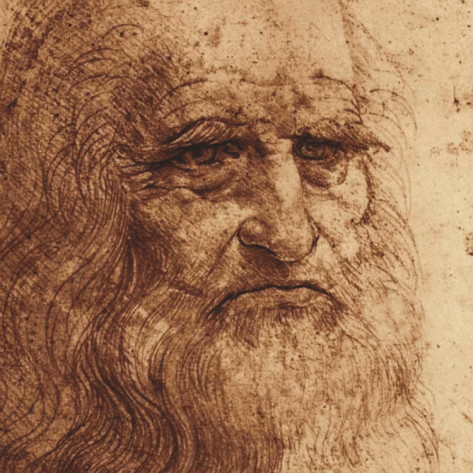 Self Portrait Detail - Leonardo Da Vinci Painting