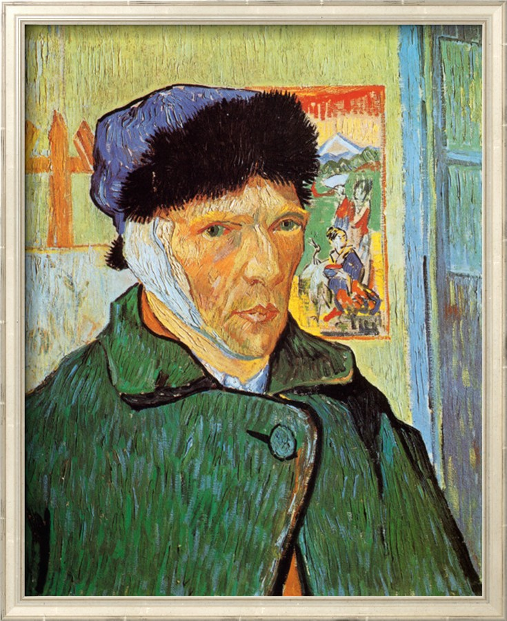 Self - Portrait with Bandaged Ear - Vincent Van Gogh Paintings