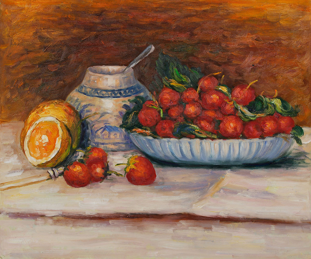 Strawberries - Pierre Auguste Renoir Painting