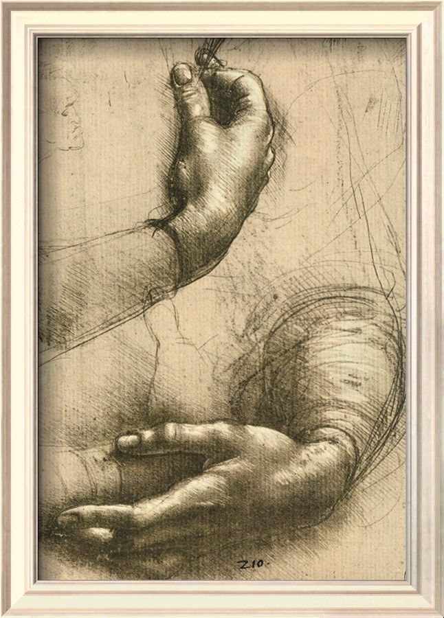 Study Of Female Hands, Drawing, Royal Library, Windsor - Leonardo Da Vinci Painting