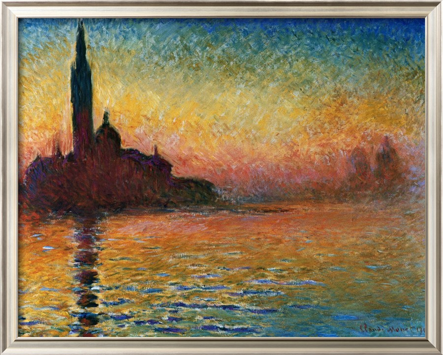 Sunset In Venice-Claude Monet Painting
