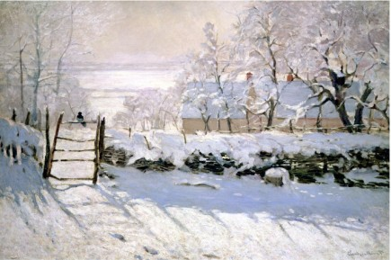 The Magpie, 1869-Claude Monet Painting