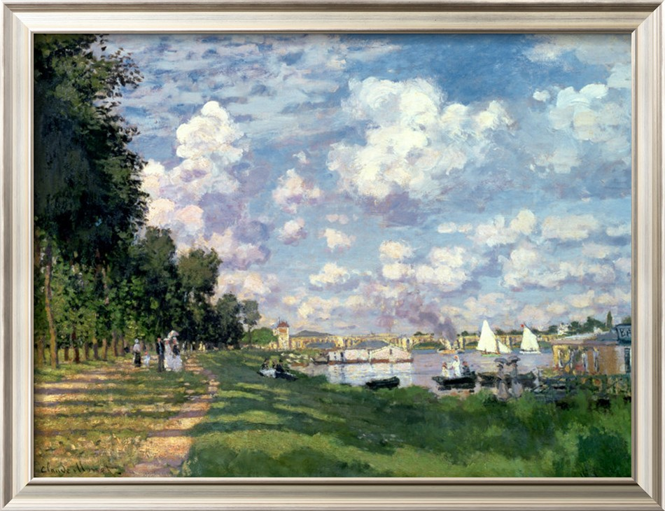 The Marina At Argenteuil, 1872-Claude Monet Painting