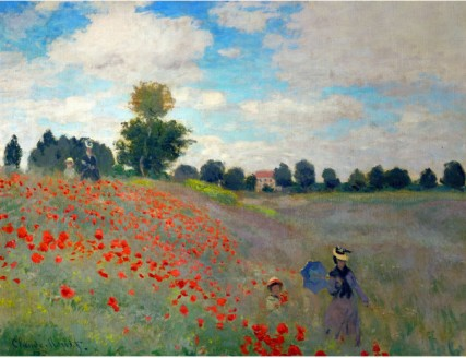 The Poppy Field, 1873-Claude Monet Painting