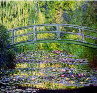 The Waterlily Pond With The Japanese Bridge, 1899-Claude Monet Painting