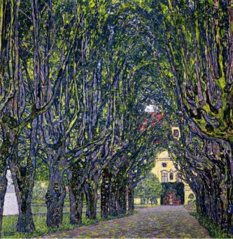 Tree Lined Road Leading To The Manor House At Kammer, Upper Austria, 1912 - Gustav Klimt Painting