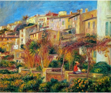 Terrace at Cagnes 1905 - Pierre Auguste Renoir Painting