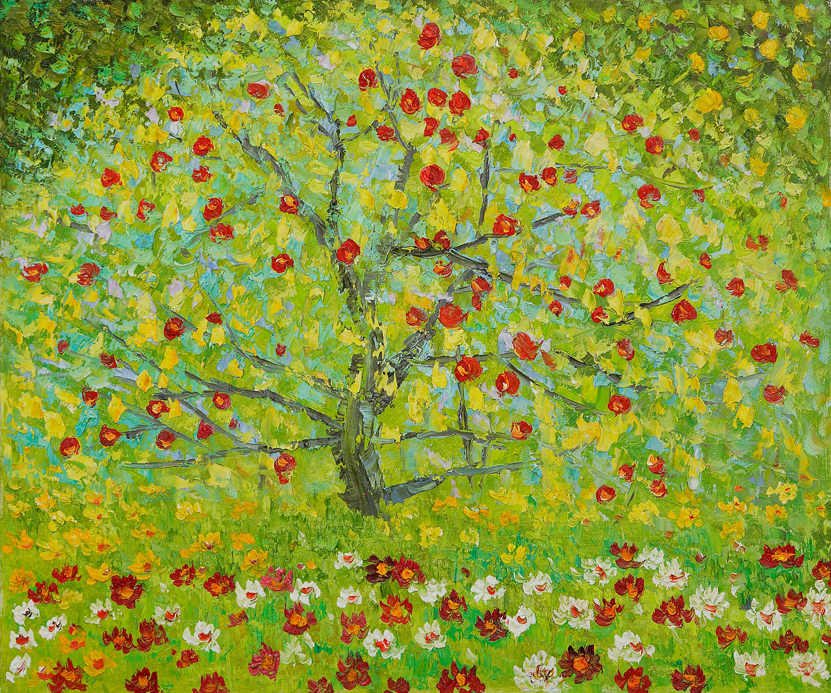 The Apple Tree - Gustav Klimt Painting