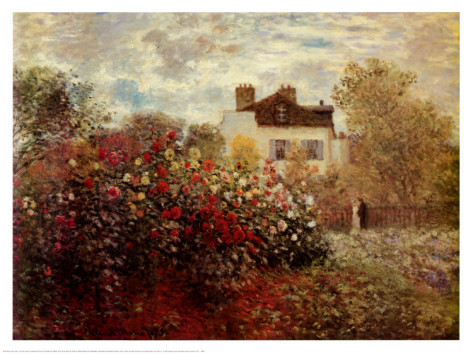 The Artists Garden At Argenteuil-Claude Monet Painting