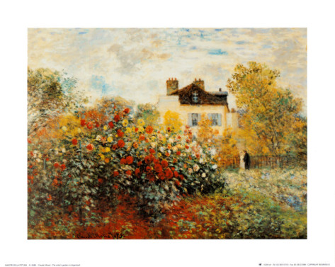The Artists Garden In Argenteuil-Claude Monet Painting