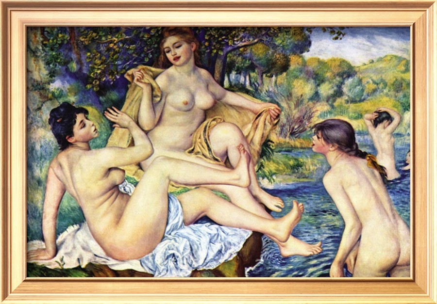 The Bathers, 1887 - Pierre Auguste Renoir Painting